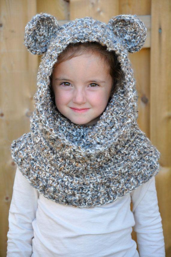Un\'bear\'ably Cute Hooded Cowl Crochet Pattern pdf (Scoodie ...