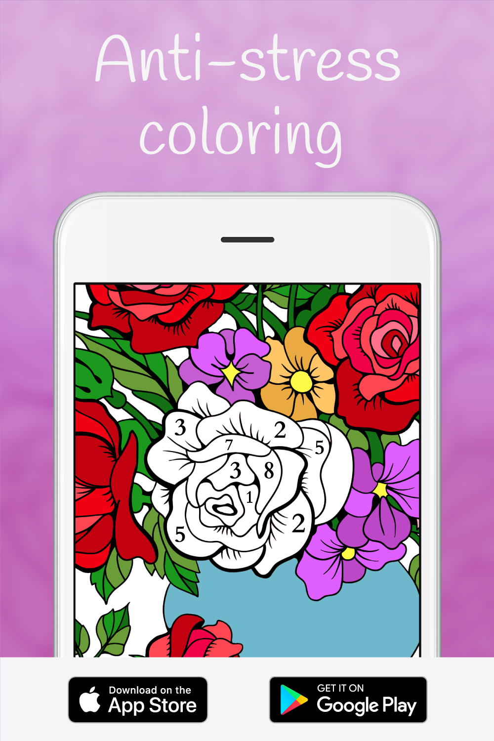 Happy Color Color By Number Antistress Coloring Easy Coloring Pages Coloring Apps