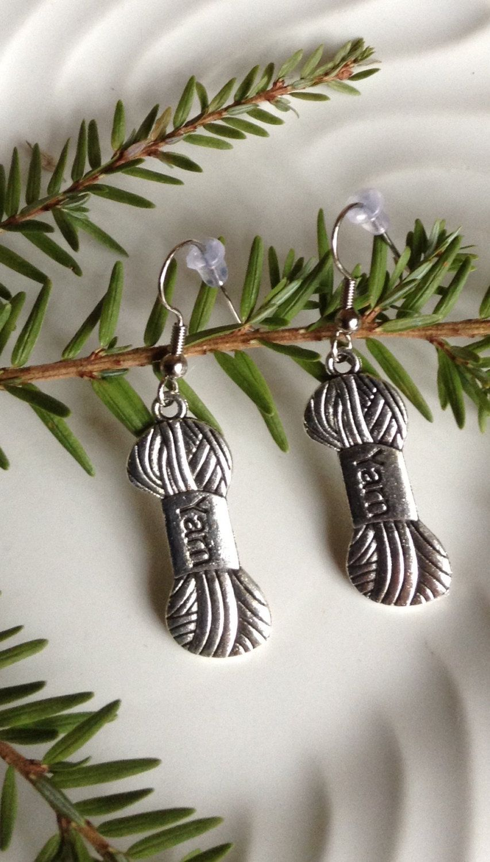 Yarn Charm Earrings...Dangle Earrings... by 1840VintageLnJewelry on Etsy