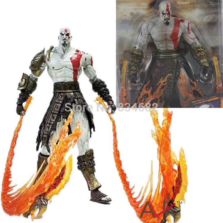 J G Chen High Quality NECA God of War Kratos in Ares Armor
