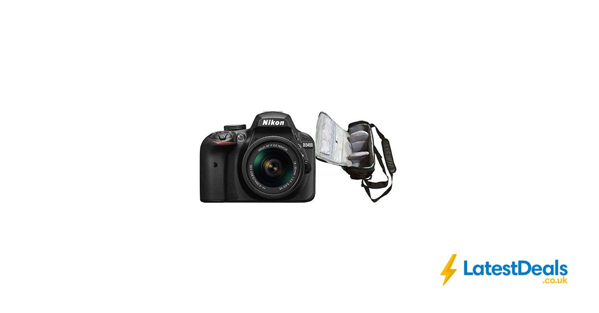Nikon D3400 DSLR Camera with AF-P 18-55mm VR Lens & Bag, £