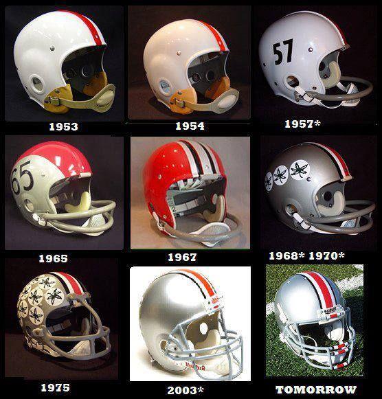 Past Buckeye Helmets Ohio State Helmet Ohio State Buckeyes