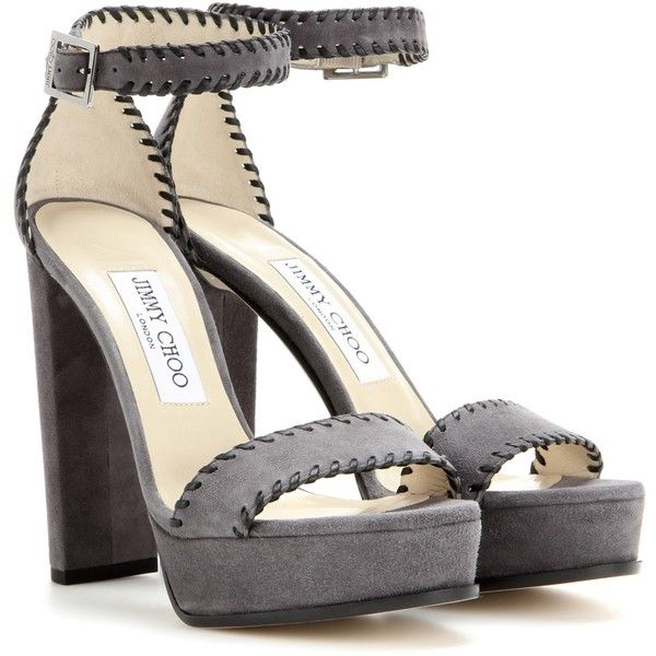 sale really Jimmy Choo Platform Suede Sandals with credit card online buy cheap outlet buy cheap sast authentic sale online p0r4g3ywdH