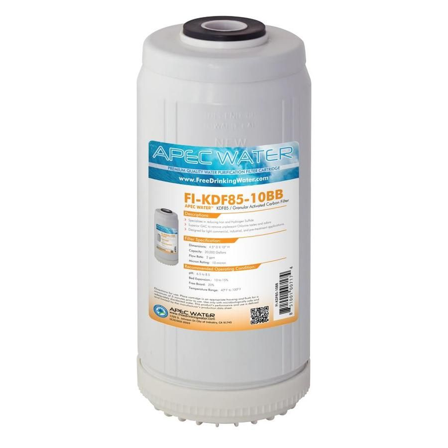 Apec Water Kdf Whole House Replacement Filter Fi Kdf85 10bb In 2020 Water Systems Hydrogen Sulfide Countertop Water Filter