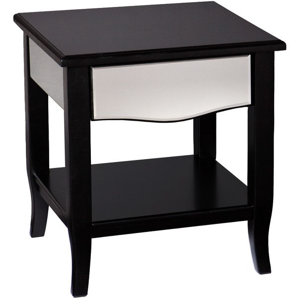 Upton Home Marion Black Mirrored End Side Table 168 Liked On Polyvore Featuring Home Furniture Tables Mirrored Table Decor End Tables Mirrored End Table