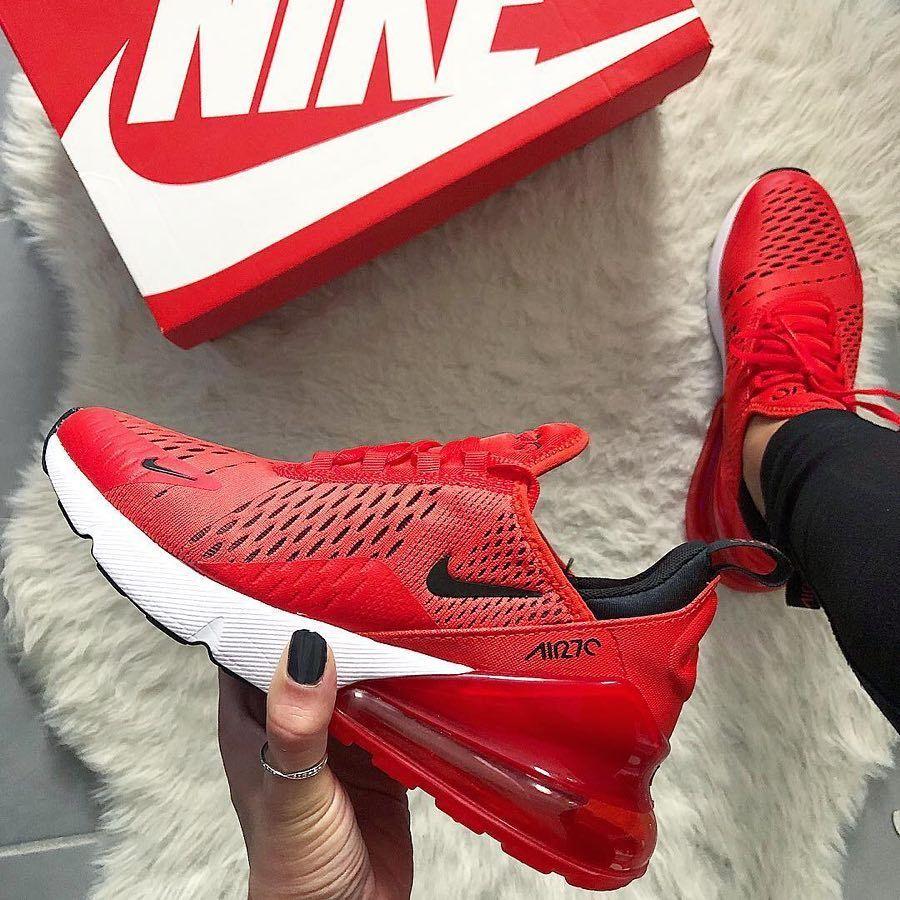 Nike Air Max 270 Habanero Red Hier Kaufen Nike Schuhe Damen Nike Sneaker