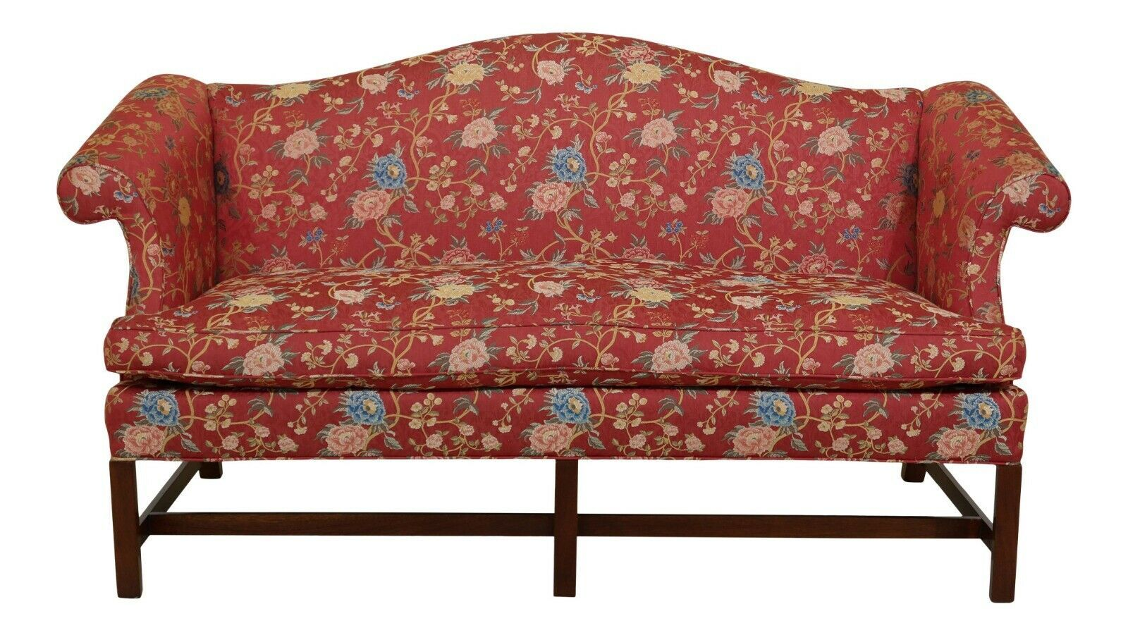48945ec Chippendale Camelback Mahogany Sofa In Scalamandre Fabric Sofas Living Room Ideas Of Sofas Living Room Sof In 2020 Living Room Sofa Fabric Sofa Love Seat