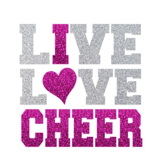 Download Live Love CHEER Iron On Love Cheerleading by ...