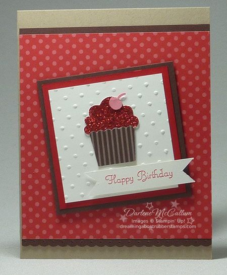 Beautiful Card Create A Cupcake Build A Cupcake Punch Embossed Cards Birthday Cards Diy Cupcake Birthday Cards