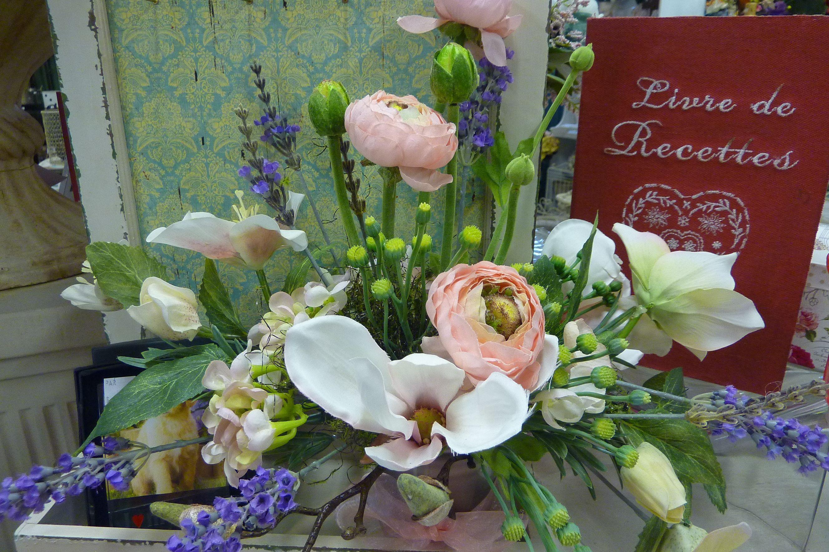 Loove Vintage Silk Flower Arrangements Vintage Eyebright