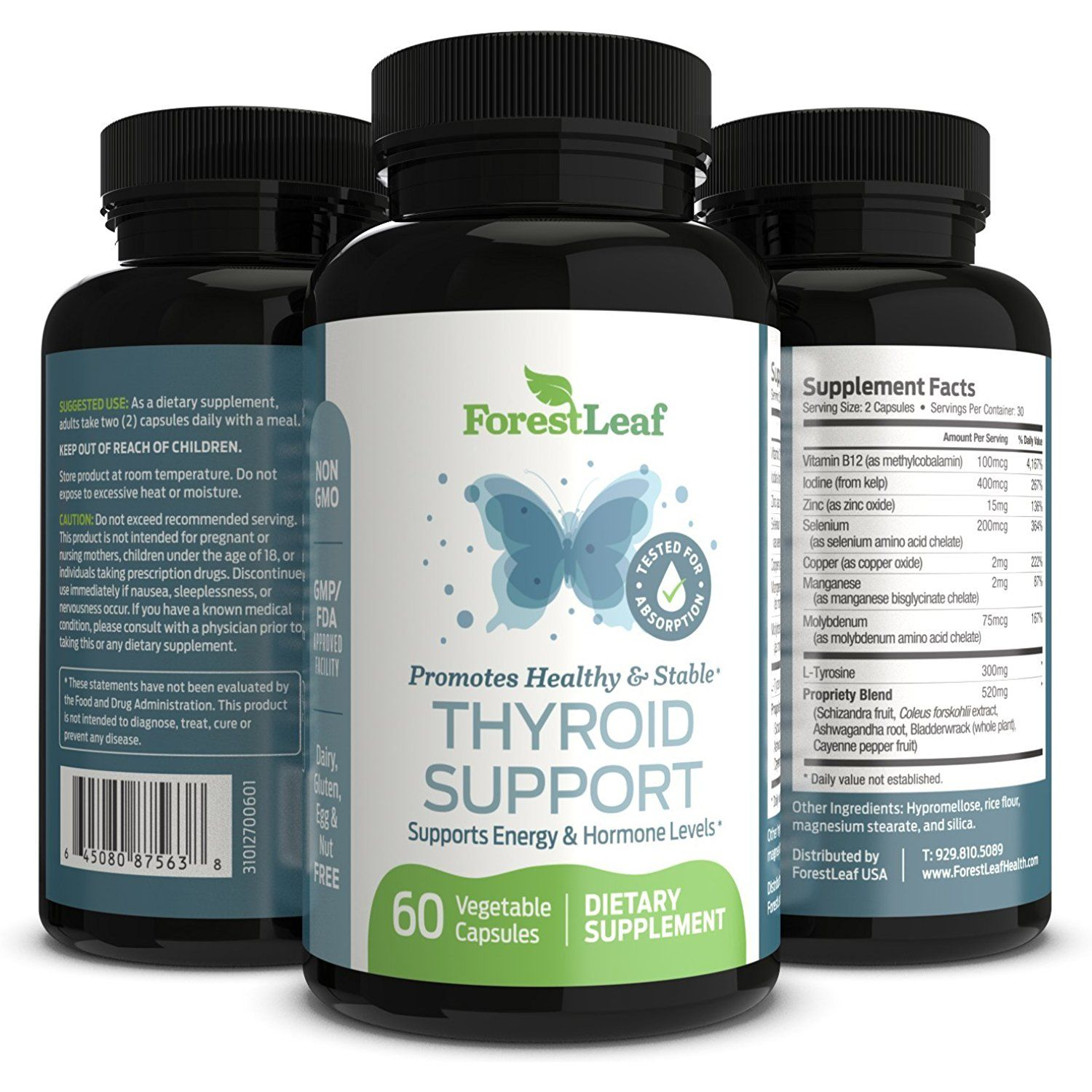 Thyroid Support Supplement With Iodine All Natural Mineral And Vitamin Complex With B12 Zinc Vitamins For Hair Growth Hair Supplements Fresh Nails Designs