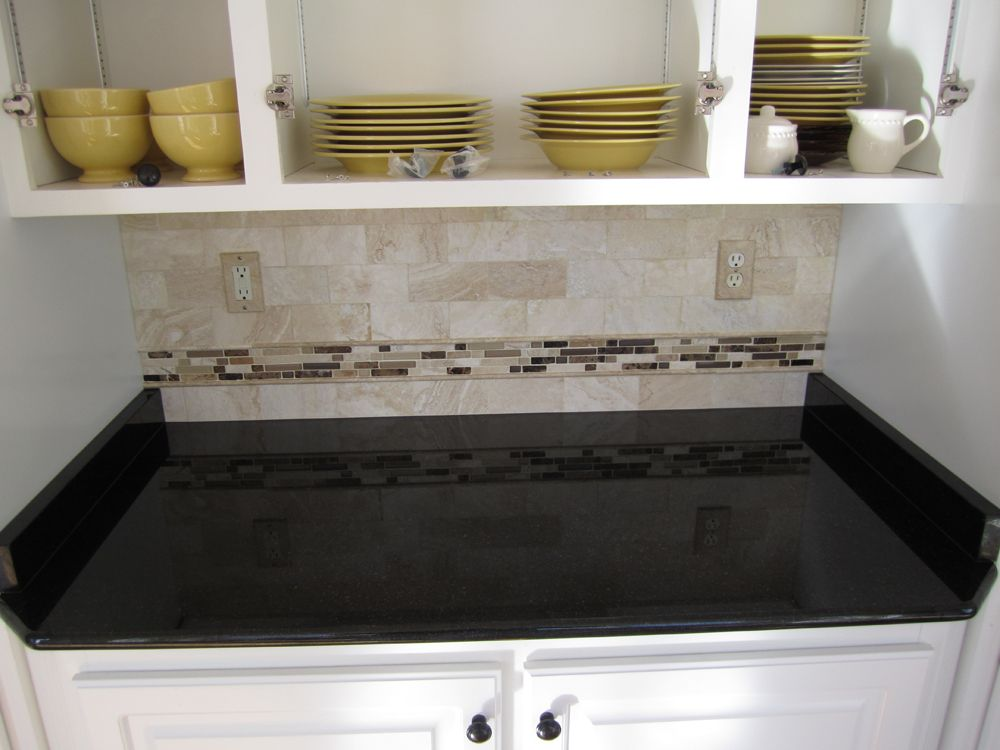 tile to go with black galaxy granite - Bing images | Hall Bathroom ...