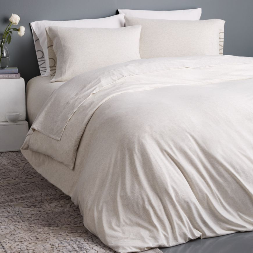 Calvin Klein Modern Cotton Jersey Body Solid Duvet Covers In 2019