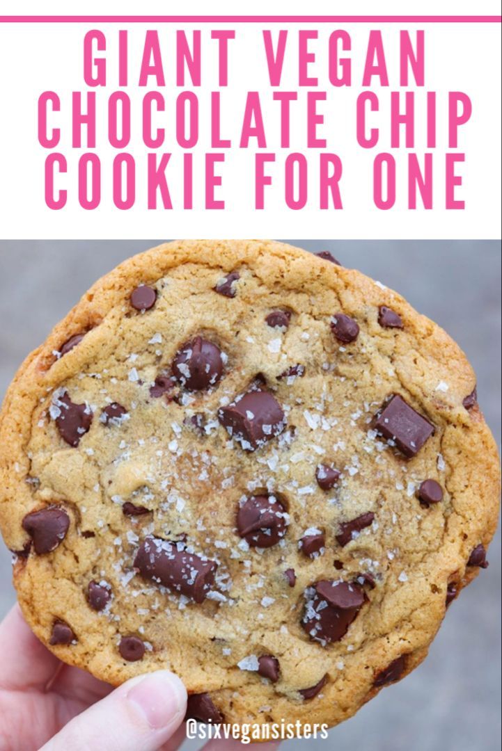 Single Serving Giant Chocolate Chip Cookie Recipe In 2020 Chocolate Chip Cookies Vegan Chocolate Chip Cookies Triple Chocolate Chip Cookies