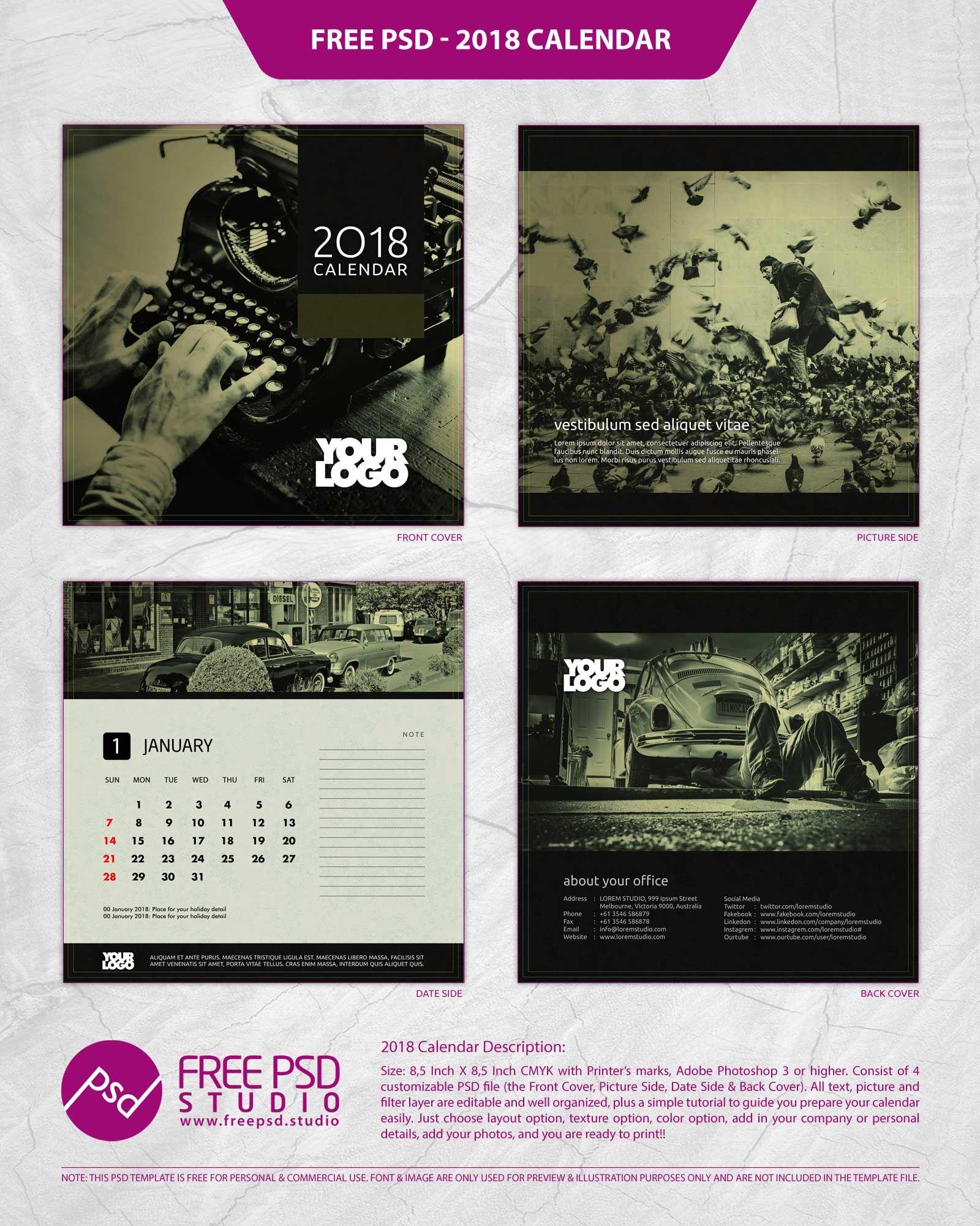 calendar template 2018 2018