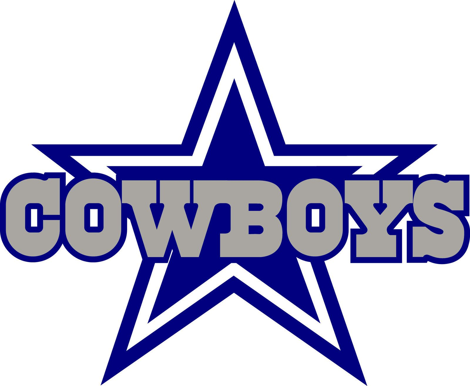 DALLAS COWBOYS STAR Logo Window Wall STICKER Vinyl Car DECAL - Cowboy custom vinyl decals for trucks