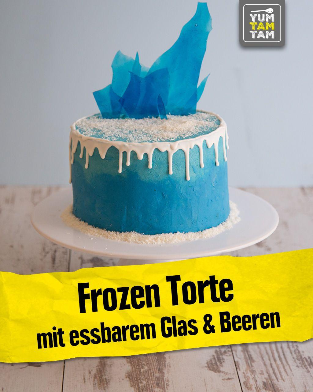 Frozen-Torte mit essbarem Glas & Beeren