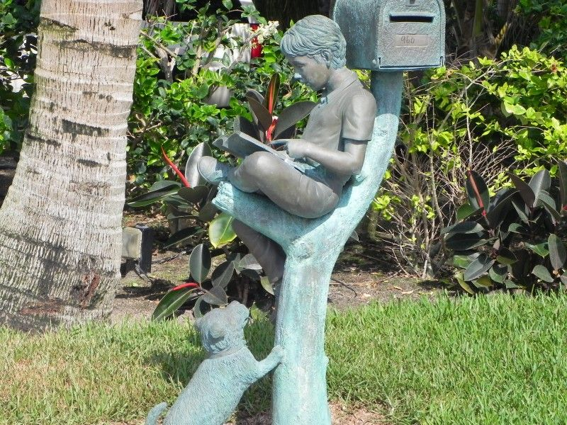 cool mailbox designs.  Mailbox Cool Mailbox With Artistic Ornate Statues Of Children And Dogs For  Unique Mailboxes Design Intended Designs S