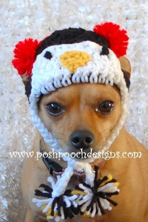 Penguin Dog Hat Beanie