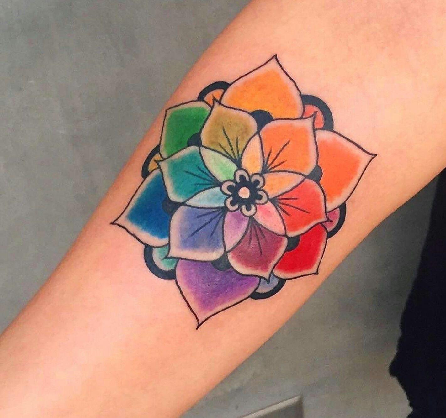 Hair~Color Wheel Tattoo