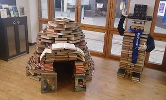 Book snowman and igloo | Book Igloos | Pinterest