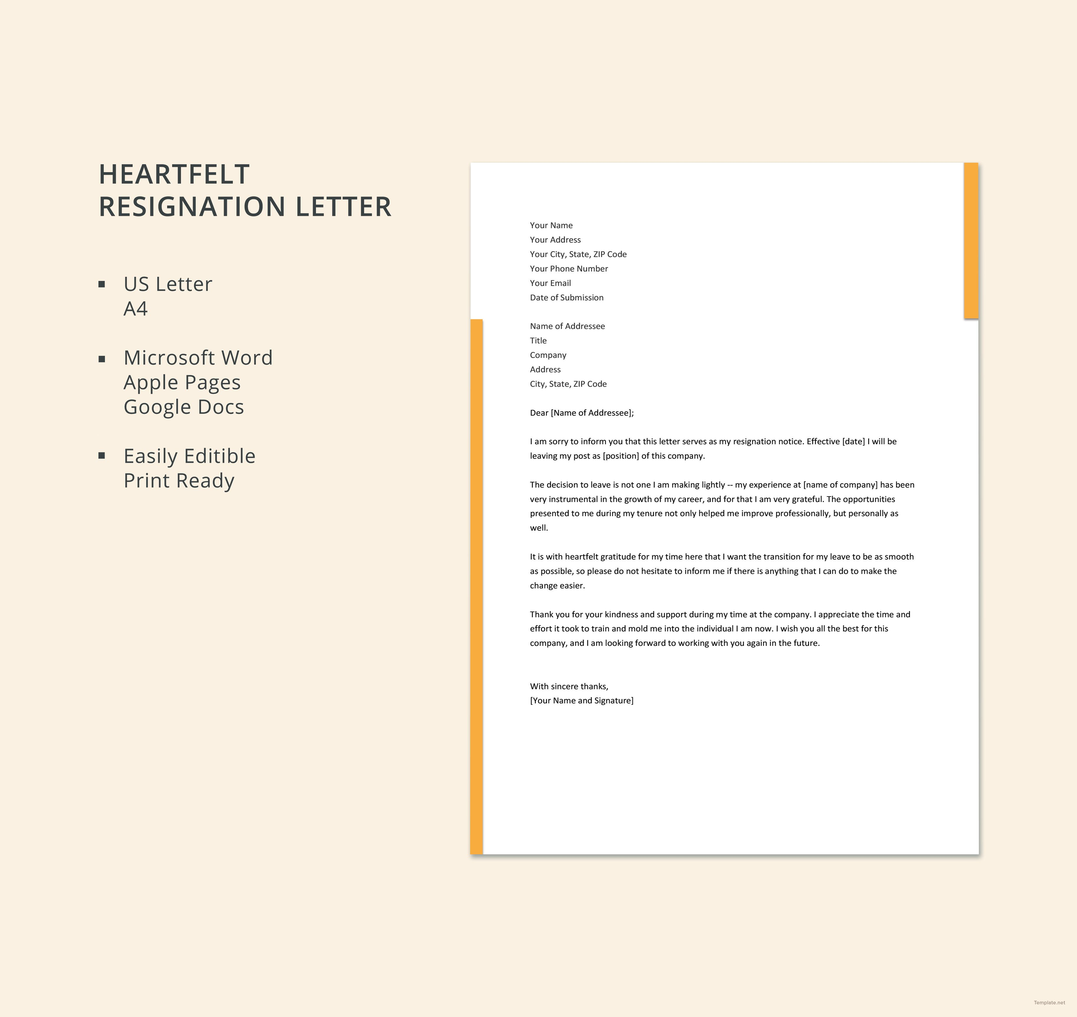 Two Weeks Notice Resignation Letter from i.pinimg.com