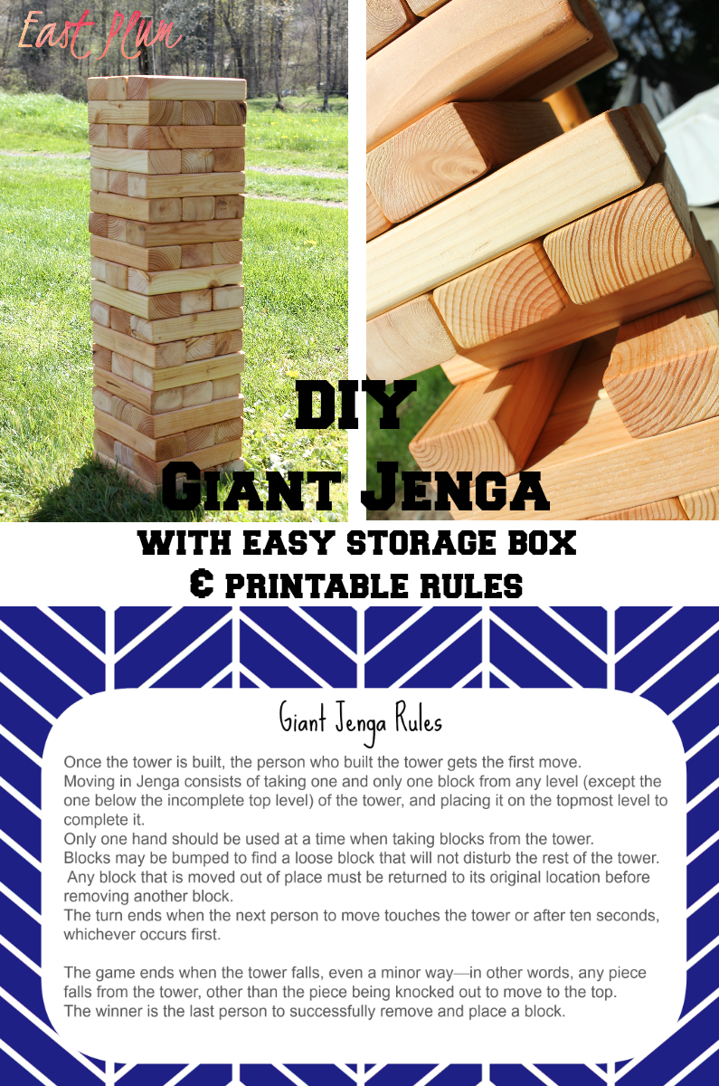 Find This Pin And More On Diy Projects To Try East Plum Giant Jenga
