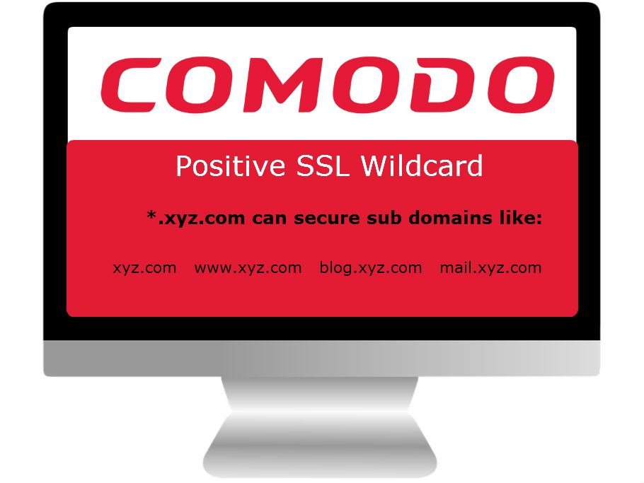 Comodo Positive Ssl Wildcard Certificate Secure Primary Domain Its