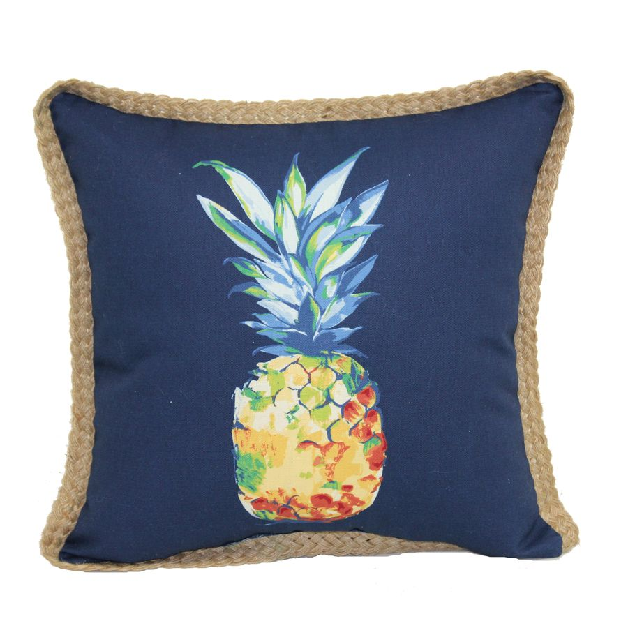 Allen Roth Red And Green Tropical Square Throw Pillow Outdoor