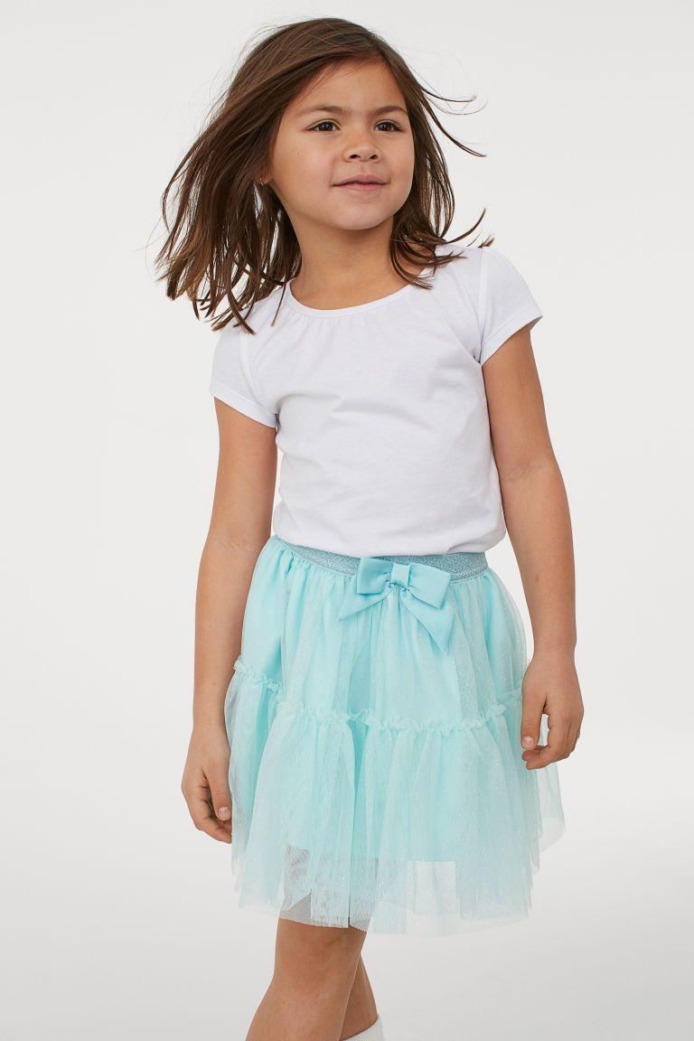 485c49888 H&M Glittery Tulle Skirt - Pink | Little girl dresses | Skirts ...
