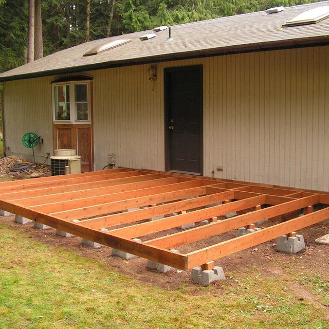 How To Build A Deck Using Blocks Building Wood