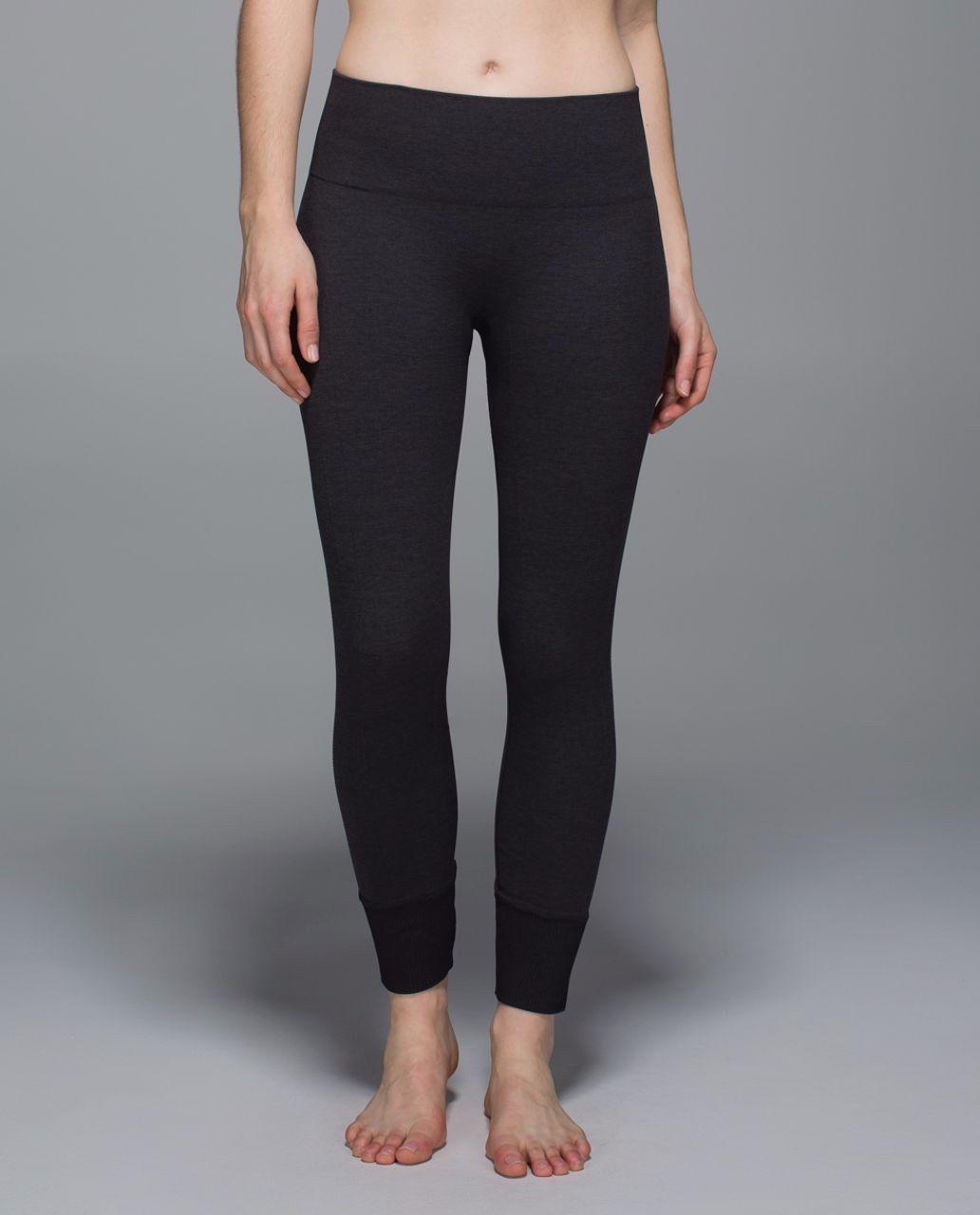 c4b33c8512c65a Lululemon Ebb to Street Pant 6 Heathered Black Seamless Hi-Rise Stretch  legging