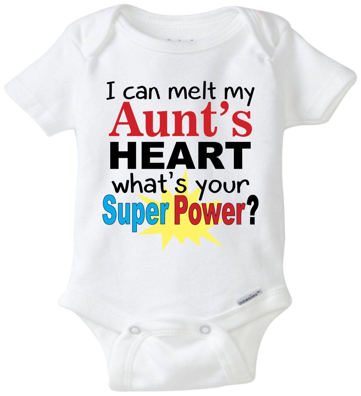 d2c30edf7 I can melt my aunt s heart baby onesie aunt onesie funny onesie ...