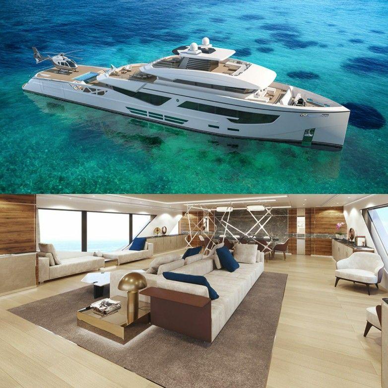 Rosetti Superyachts 52m Yacht Phi Design Lab Helipad Sailing Yacht Interior Luxury Yachts Yacht Design