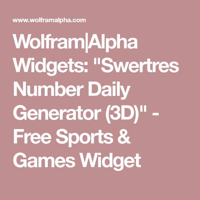 Wolfram|Alpha Widgets: