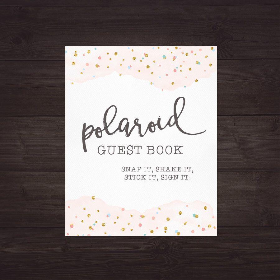 Polaroid Guest Book Ideas: Polaroid Guest Book Sign For Wedding