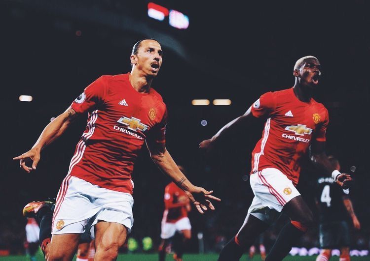 Ibrahimovic Pogba Manchester United 16 17 Home Soccer Jersey Rooney Mkhitaryan Baill Manchester United Fans Manchester United Manchester United Football Club