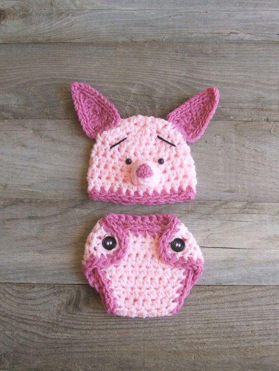Adorable piglet set | Stuff! | Pinterest | Baby shooting, Häkeln für ...
