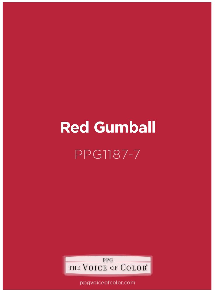 Red Gumball Ppg 1187 7 A Fun Shade Of To Make Any Room Feel Bubbly From Voice Color