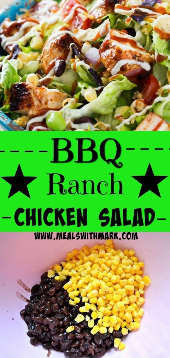Bbq Ranch Chicken Salad Recipe Bloggers Post It Board