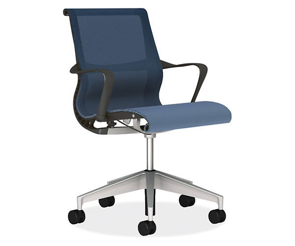 Room Board Setu Chair Graphite With Lyris 2 Berry Blue By Herman Miller Conference Table Chairs Office Chair Setu Chair Chair