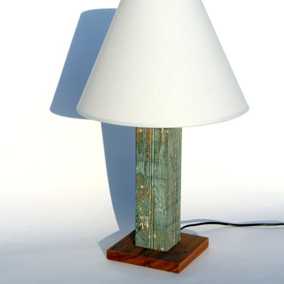 New Orleans Reclaimed Wood Antique Beadboard Lamp Cozy One Of A Kind