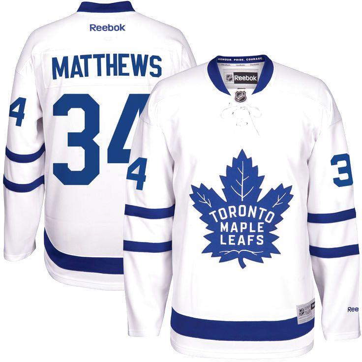 Auston Matthews Toronto Maple Leafs Reebok Away Premier Player Jersey -  White -  169.99 75ef0a1a2