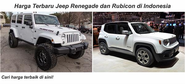 Harga Terbaru Jeep Renegade dan Rubicon di Indonesia
