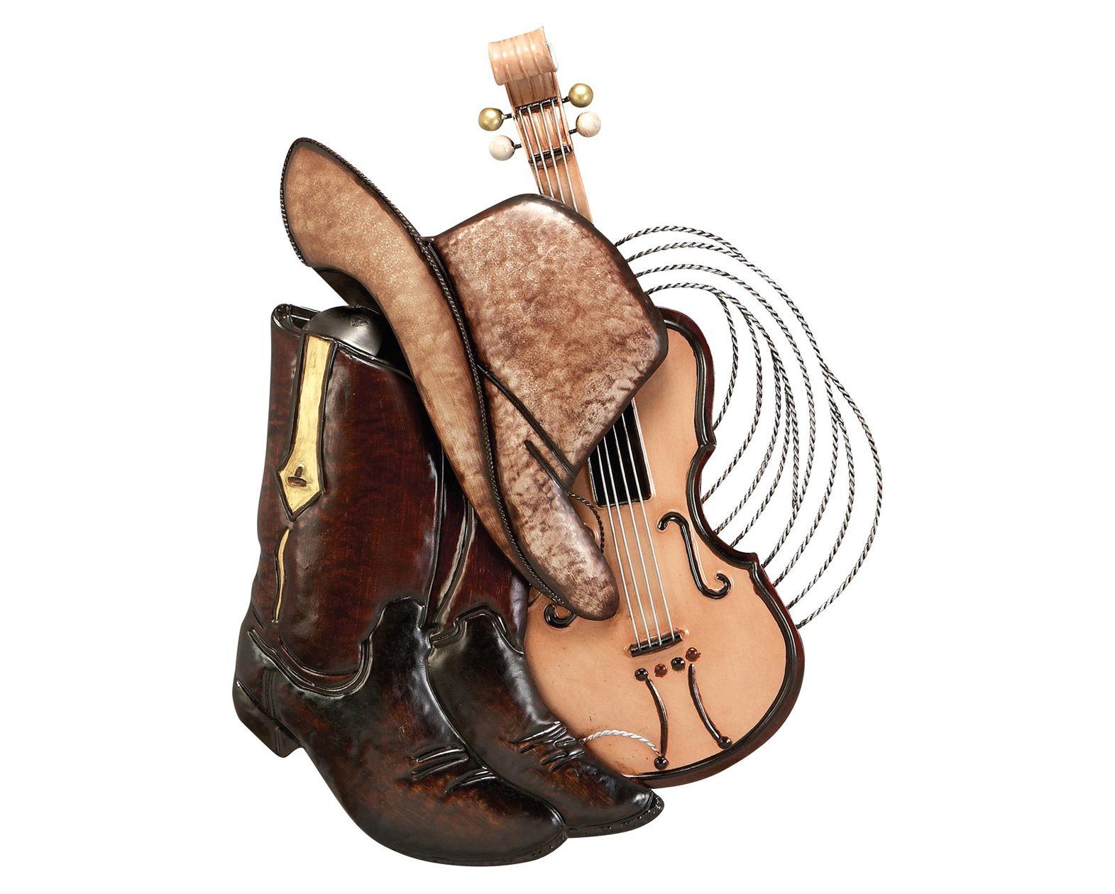 Cowboy Boots, Hat & Guitar