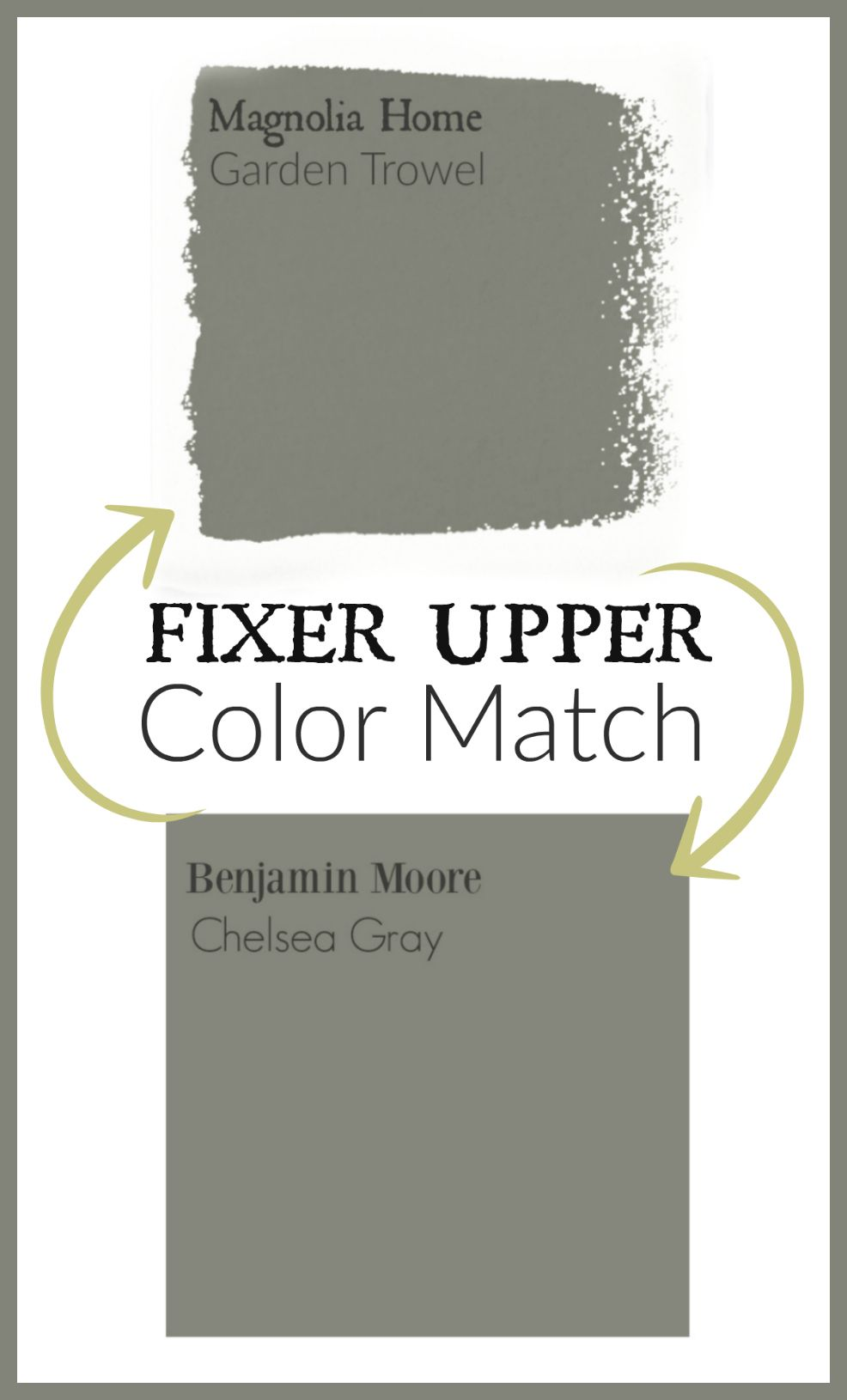 Fixer upper kitchen cabinet paint colors - Fixer Upper Paint Color Matched To Benjamin Moore