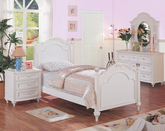 Chantilly White Twin Bed Collection In 2019 Girls Bedroom