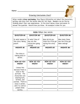 Drawing Conclusions with Owl Moon | ELA Stations | Drawing