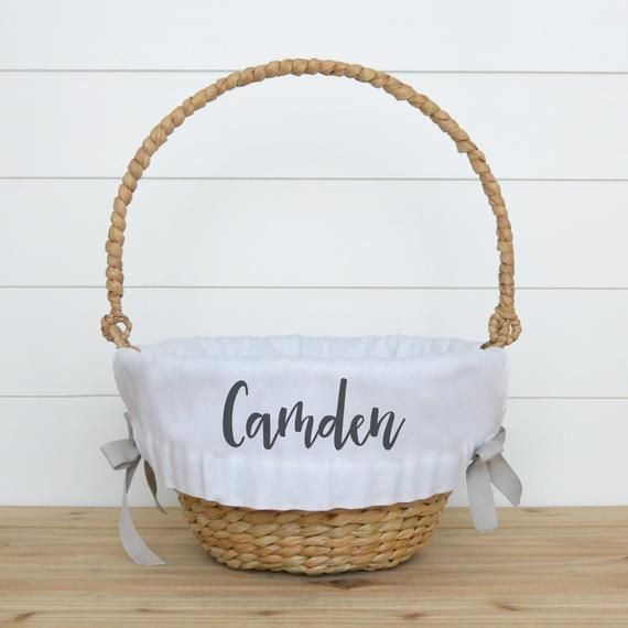 Personalized Easter Basket Liner Customized Easter