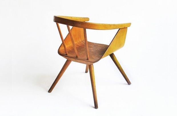 Bent Plywood Childrenu0027s Chair, 1950u2032s.